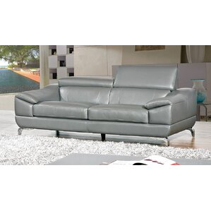 Vegas Leather Sofa by Cortesi Home