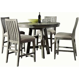 Pingree 5 Piece Counter Height Solid Wood Dining Set by Brayden Studio Amazing