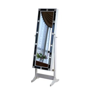 Budget Jewelry Armoire with Mirror By Jeco Inc.