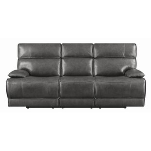 Caughfield Leather Reclining Sofa by Latitude Run