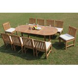 Delmonte 11 Piece Teak Dining Set