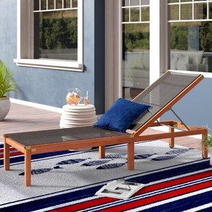Beachcrest Home Fann Reclining Chaise Lounge
