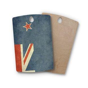 Bruce Stanfield Birchwood Flag of New Zealand Cutting Board ByEast Urban Home