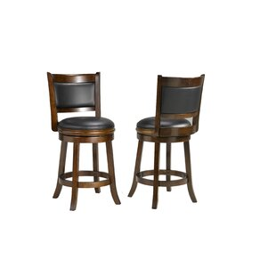Price comparison Torr 24 Swivel Bar Stool (Set of 2) by Red Barrel Studio Reviews (2019) & Buyer's Guide