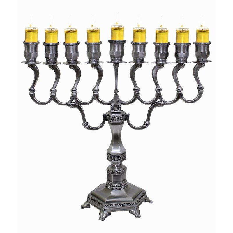 Ben And Jonah Lamp Lighters Ultimate Judaica Menorah Wayfair