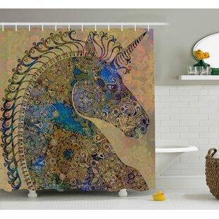 Read Reviews Beal Indian Mandala Pastel Shower Curtain ByBloomsbury Market