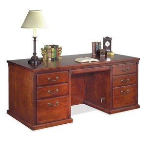 Martin Home Furnishings Huntington Club Double Pedestal Executive Desk