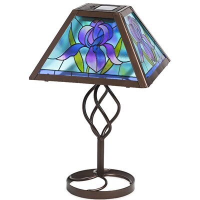 Tiffany Style Flower Solar Outdoor 12 75 Table Lamp