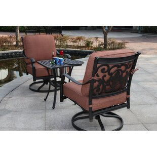 Astoria Grand Mccraney 3 Piece Conversation Set with Cushions