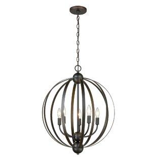 Gracie Oaks Serafin 5-Light Globe Chandelier