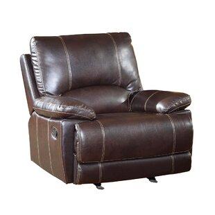 Ullery Upholstered Living Room Manual Recliner by Winston Porter