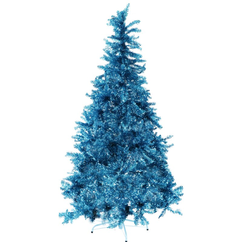 Turquoise And White Christmas Tree: The Holiday Aisle Festive Tinsel 5' Turquoise Pine