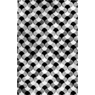 Affordable Price Howland Hand-Woven Cowhide Black/White Area Rug By Brayden Studio