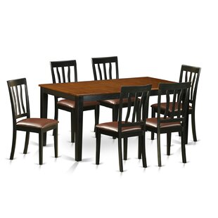 7 Piece Extendable Dining Set East West Furniture