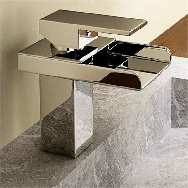 Waterfall Bathroom Sink Faucet Part - 32: Single Handle Single Hole Waterfall Bathroom Sink Faucet