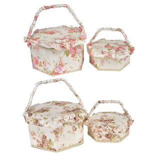 4 Pieces Picnic Basket Set (Set Of 2) By August Grove