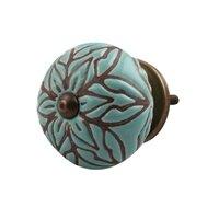 Etched Ceramic Drawer Round Knob (Set of 2)