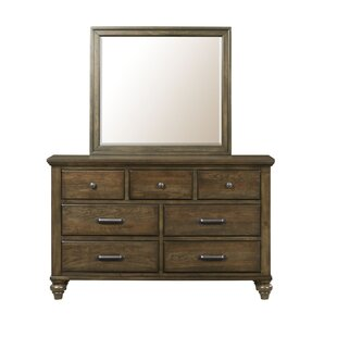 Gracie Oaks Wroten 7 Drawer Dresser with Mirror