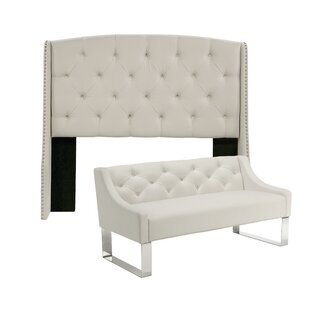 Chenery Upholstered Wingback Headboard and Bench by Darby Home Co