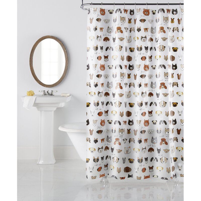 Zoomie Kids Varennes Bark Bark Vinyl Single Shower Curtain Reviews Wayfair