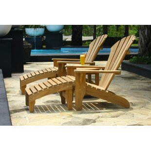 Douglas Nance Atlantic Teak Adirondack Chair with Ottoman