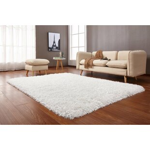 Compare prices Crystal Shag Vibrant Hand-Tufted White Area Rug By Rug Factory Plus