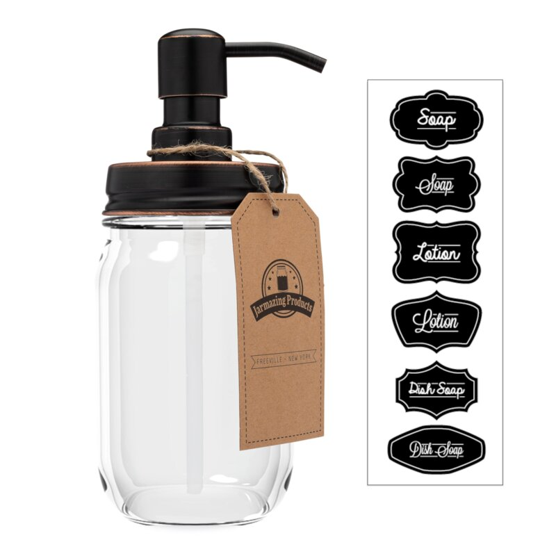 Mason+Jar+Soap+%2526+Lotion+Dispenser