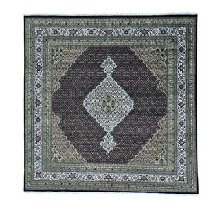 Affordable Price One-of-a-Kind Saltzman 250 Kpsi Mahi Hand-Knotted Black Area Rug ByAstoria Grand