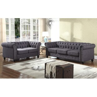 Bosworth Nailhead 2 Piece Living Room Set by Alcott Hill