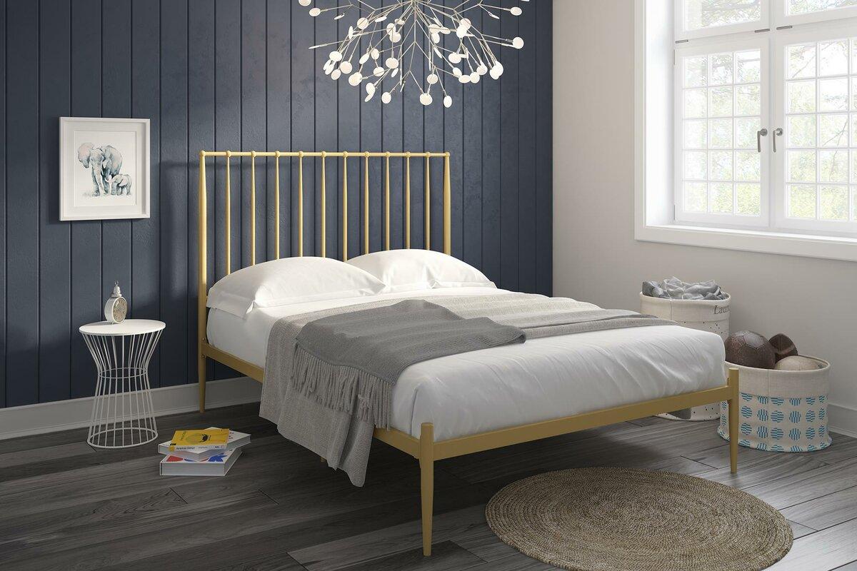 rebello modern platform bed - Modern Platform Bed Frame
