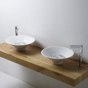WS Bath Collections Deco Ceramic Circular Vessel Bathroom Sink