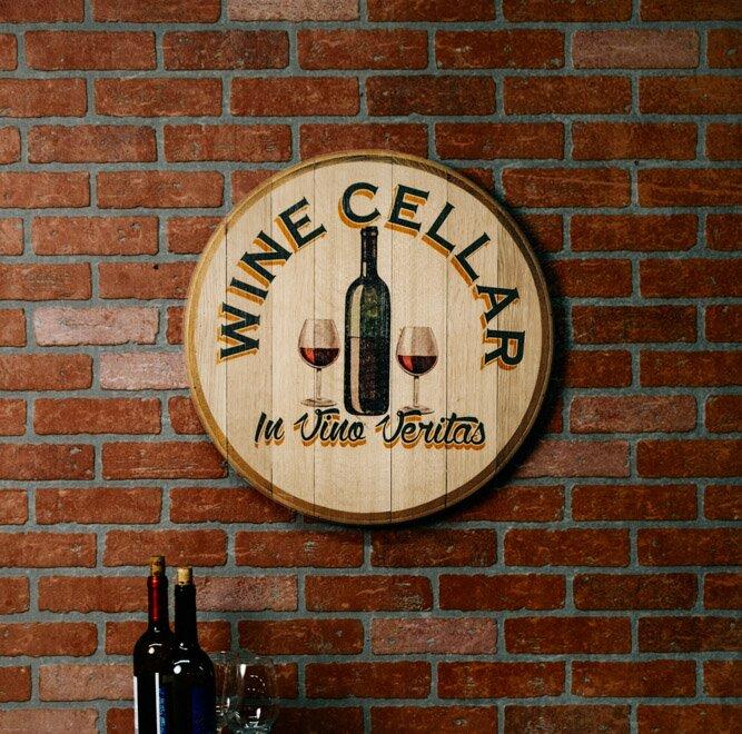 Fleur De Lis Living Wine Barrel Head \'Wine Cellar\' Wall Décor | Wayfair