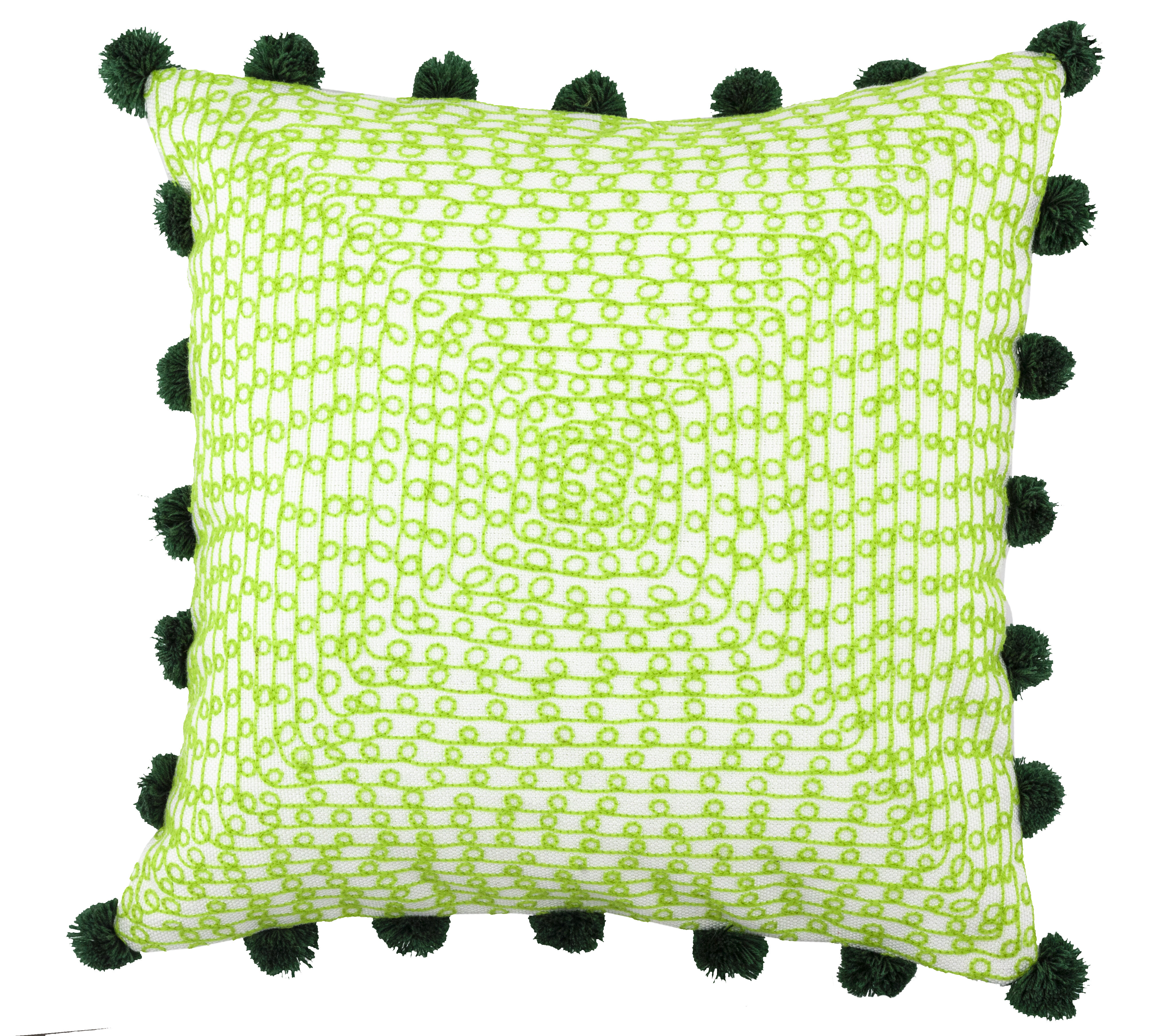 Bungalow Rose Montejano Embroidered Infinity Loops Outdoor Throw Pillow Reviews Wayfair