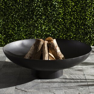 Deeco Nuria Steel Wood Burning Fire Pit