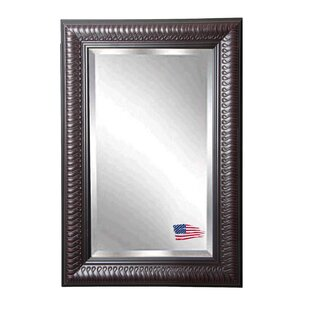 Astoria Grand Rectangle Royal Mahogany Beveled Slim Wall Mirror