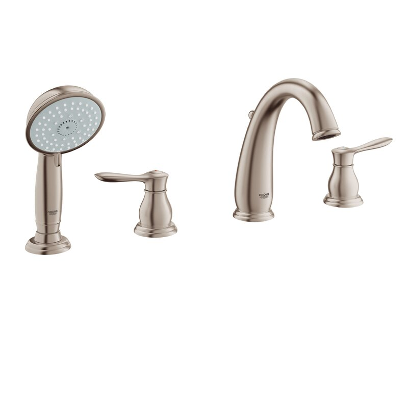 Parkfield Deck Mounted Roman Tub Faucet With Handshower