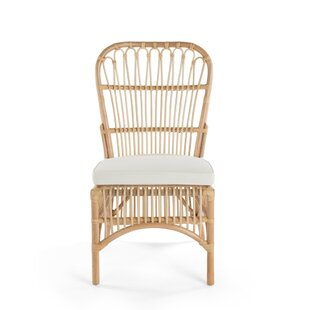 Deloris Rattan Side Chair (Set of 2) Bayou Breeze