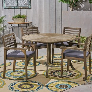 Restivo 5 Piece Dining Set with Cushions
