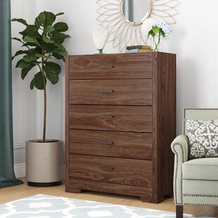 Kimbrough 5 Drawer Chest by Wrought Studio Great price