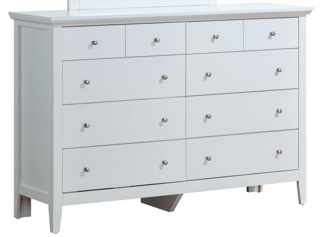 Lignite 8 Drawer Double Dresser