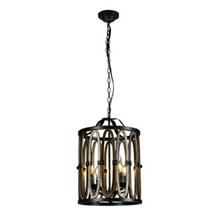 Gracie Oaks Icarus 4-Light Lantern Pendant