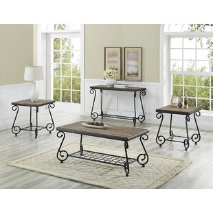 Compare prices Vazquez 3 Piece Coffee Table Set By Fleur De Lis Living