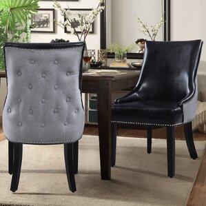 Brando Genuine Leather Upholstered Dining..