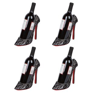 Caddell High Heel Holder 1 Bottle Tabletop Wine Rack (Set of 4) by House of Hampton