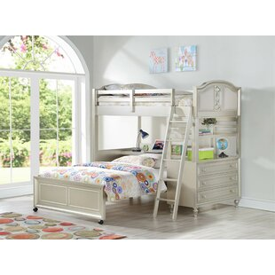 Anette L-Shaped Bunk Bed with Drawers, Bookcase and Desk by Harriet Bee