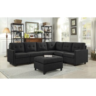 Wetherby Reversible Sectional with Ottoman by Ebern Designs SKU:BB823231 Price Compare