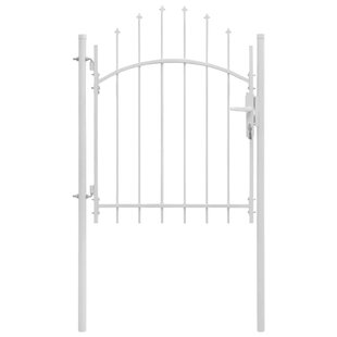 Quakertown Garden Arched Top 3' X 6' (1m X 1.75m) Metal Gate By Sol 72 Outdoor