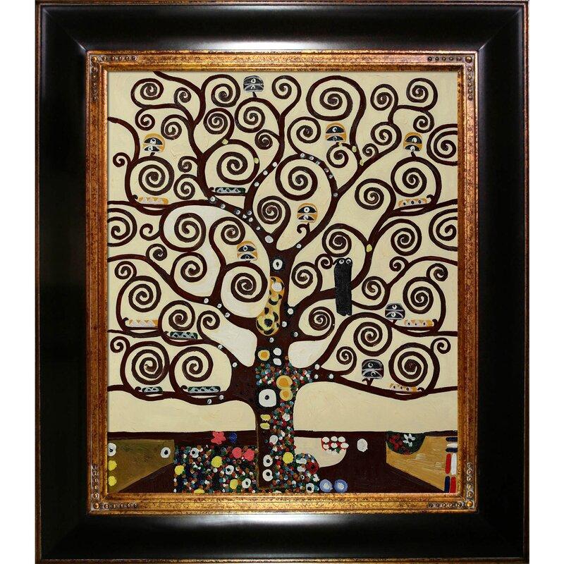 Tori Home Tree of Life by Gustav Klimt Framed Painting & Reviews ...