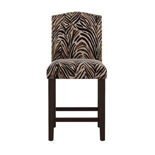 Genevie Arched Washed Zebra 26 Bar Stool Bloomsbury Market