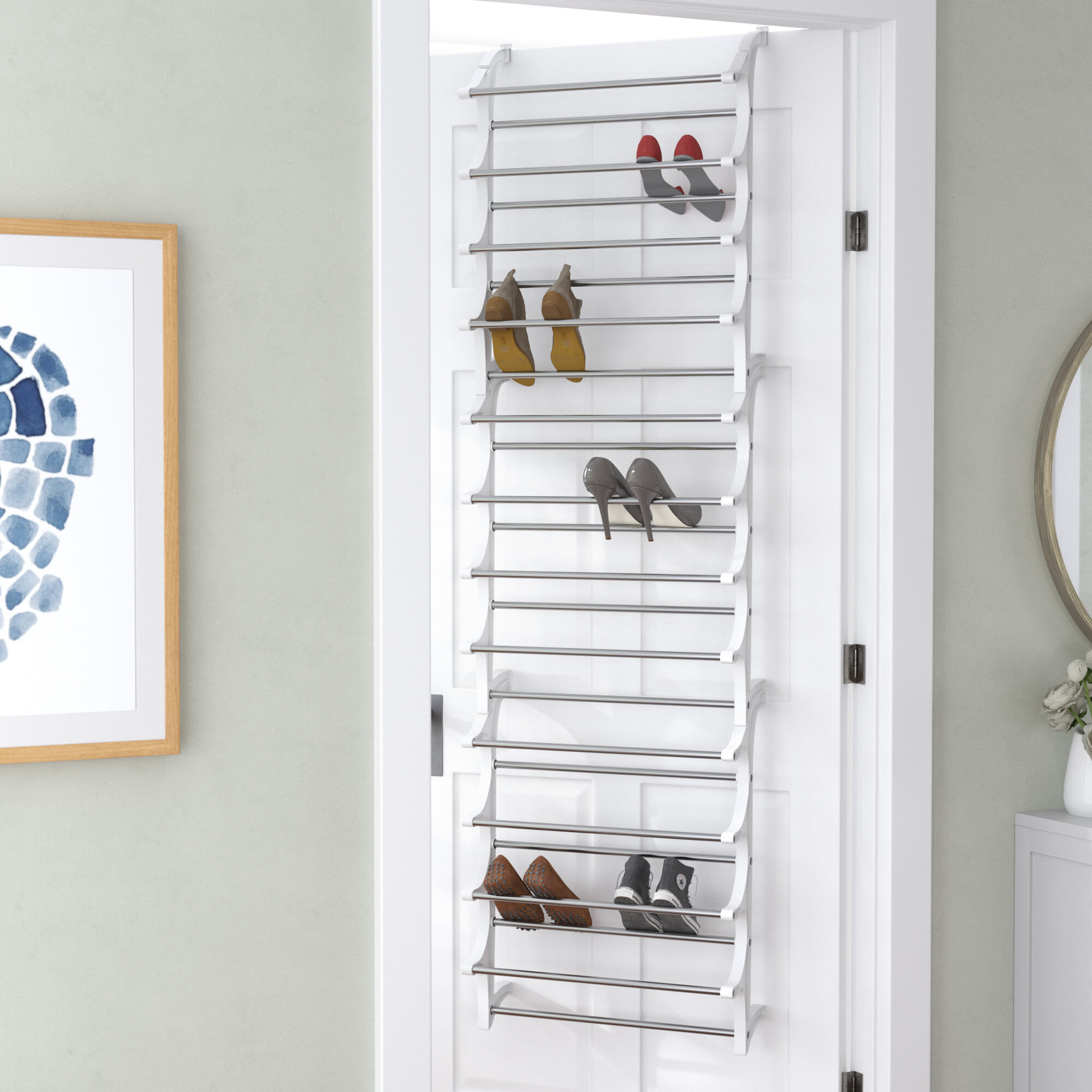 Merveilleux Rebrilliant Lynk® 36 Pair Over Door Shoe Organizer U0026 Reviews   Wayfair